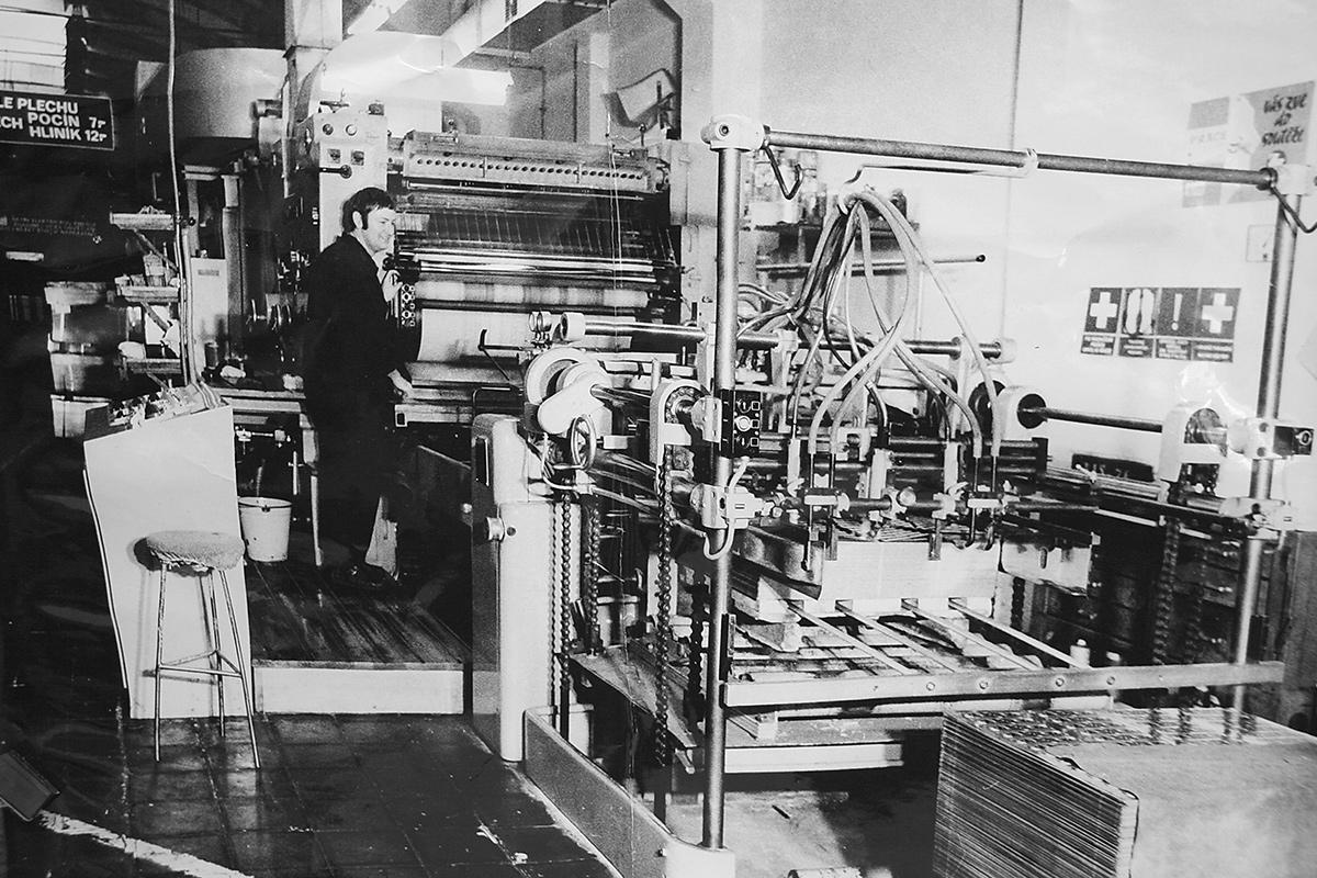 První stroj na potisk plechovek